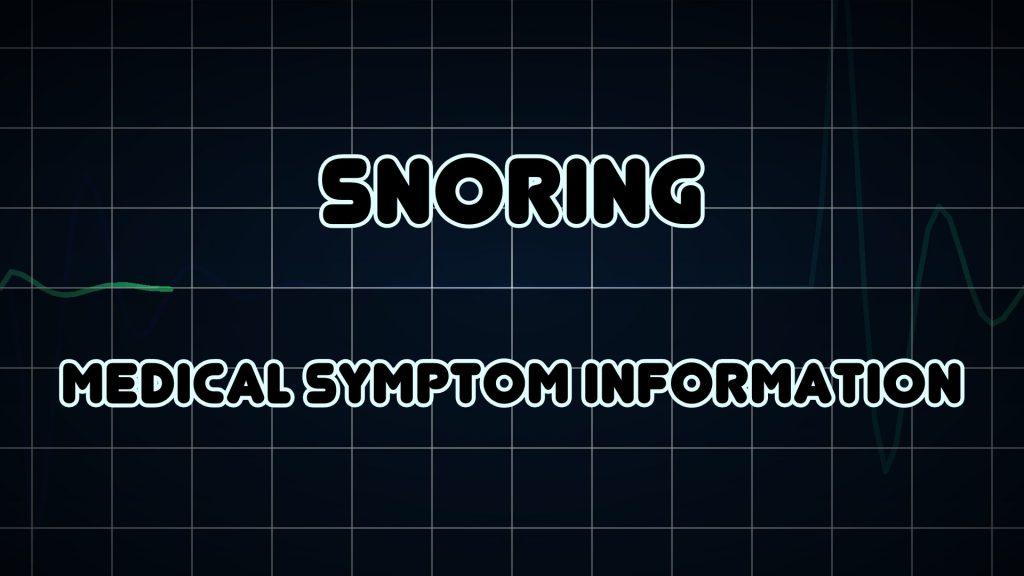 Stop Snoring Information